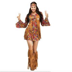 Fun World Women's Plsz Peace & Love Hippie Costume